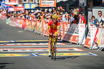 Jesus Herrada (ESP) Cofidis crosses the finish line of the 2018 Liège - Bastogne - Liège (UCI WorldTour), Belgium, 22 April 2018, Photo by Thomas van Bracht / PelotonPhotos.com