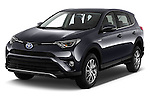 2016 Toyota RAV4 Business Edition Plus 5 Door Suv Angular Front stock photos of front three quarter view