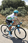 White Jersey Miguel Angel Lopez Moreno (COL) Astana Pro Team in action during Stage 5 of La Vuelta 2019 running 170.7km from L'Eliana to Observatorio Astrofisico de Javalambre, Spain. 28th August 2019.<br /> Picture: Luis Angel Gomez/Photogomezsport | Cyclefile<br /> <br /> All photos usage must carry mandatory copyright credit (© Cyclefile | Luis Angel Gomez/Photogomezsport)