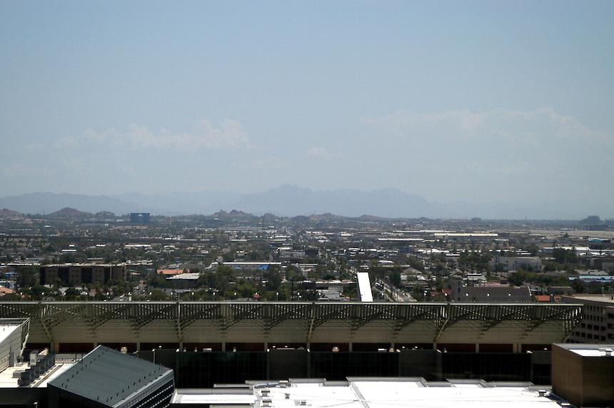 AJ Alexander/AJAimages - Downtown Phoenix, Arizona.Smog.Photo by AJ Alexander