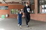 07.07.2020, Trainingsgelaende am wohninvest WESERSTADION,, Bremen, GER, 1.FBL, Werder Bremen - der Tag nach Heidenheim, im Bild<br /> <br /> <br /> <br /> Yuya Osako (Werder Bremen #08) mit Tochter Julia (5) und kommt mit seinen Trainingsaufgaben aus dem Stadion<br /> <br /> <br /> Foto © nordphoto / Kokenge