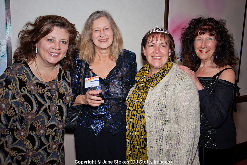 Dr Sally Hardy, Dr Kim Manley, Professor Jan Dewing &amp; Professor Angie Titchen at the Conference Dinner. The theme was 'glitter' hence the tiara worn by Jan<br /> <br /> CARN &amp; IPDC Conference; 'Towards Creative Action: Transformations and Collaborations in Practice' 23-25 November 2012