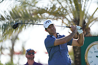 Jorge Campillo (ESP) on the 9th tee during Round 1 of the Abu Dhabi HSBC Championship 2020 at the Abu Dhabi Golf Club, Abu Dhabi, United Arab Emirates. 16/01/2020<br /> Picture: Golffile | Thos Caffrey<br /> <br /> <br /> All photo usage must carry mandatory copyright credit (© Golffile | Thos Caffrey)