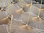 Meinong, Taiwan -- Semi-finished hand-made oil paper umbrellas.