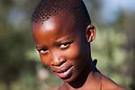 Botswana, Kalahari, bushman (San) girl, portrait