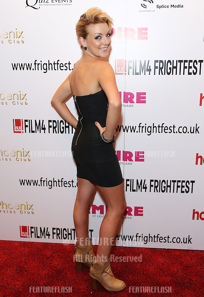 Sheridan Smith arriving for the Film4 Frightfest: Tower Block closing film,.London. 27/08/2012 Picture by: Henry Harris / Featureflash