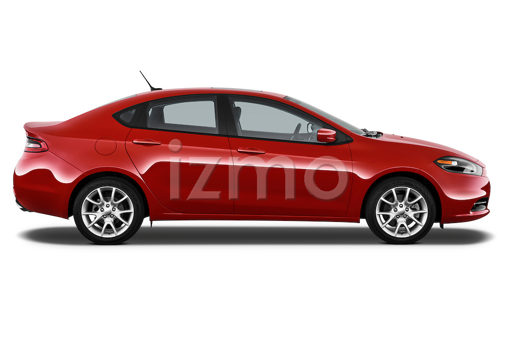 Passenger side profile photo of a 2013 Dodge Dart Rallye sedan