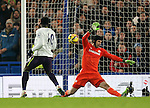 Chelsea's Petr Cech saves superbly from Everton's Romelu Lukaku<br /> <br /> Barclays Premier League- Chelsea vs Everton  - Stamford Bridge - England - 11th February 2015 - Picture David Klein/Sportimage