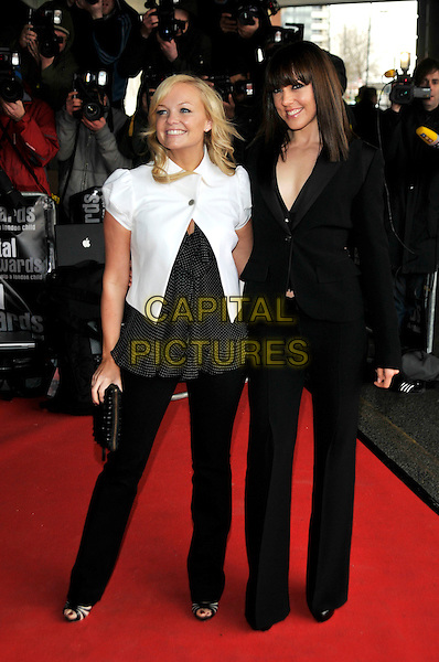 EMMA BUNTON & MELANIE CHISHOLM - SPICE GIRLS.Capital 95.8 Awards for Help a London Child.Parkside Plaze Riverside Hotel,. London, England.20th March 2008.full length black trousers jacket white baby spice sporty mel c clutch bag purse .CAP/PL.©Phil Loftus/Capital Pictures