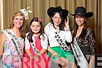 New Orleans Rose Molly Molloy Gambel pictured with her Rosebud Jade Kelleher and Texas Rose Haley O'Sullivan pictured with her Rosebud Sorcha Lynch at the Carlton Hotel at the Rose of Tralee on Friday.