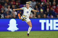 Orlando City, FL - Wednesday March 07, 2018: Izzy Christiansen during a 2018 SheBelieves Cup match between the women's national teams of the United States (USA) and England (ENG) at Orlando City Stadium.