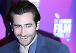 PIC SHOWS: Jake Gyllenhaal at the BFI in London Southbank Centre<br /> <br /> He was giving a talk on stage with DJ Edith Bowman,<br /> <br /> <br /> <br /> <br /> Pic by Gavin Rodgers/Pixel 8000 Ltd