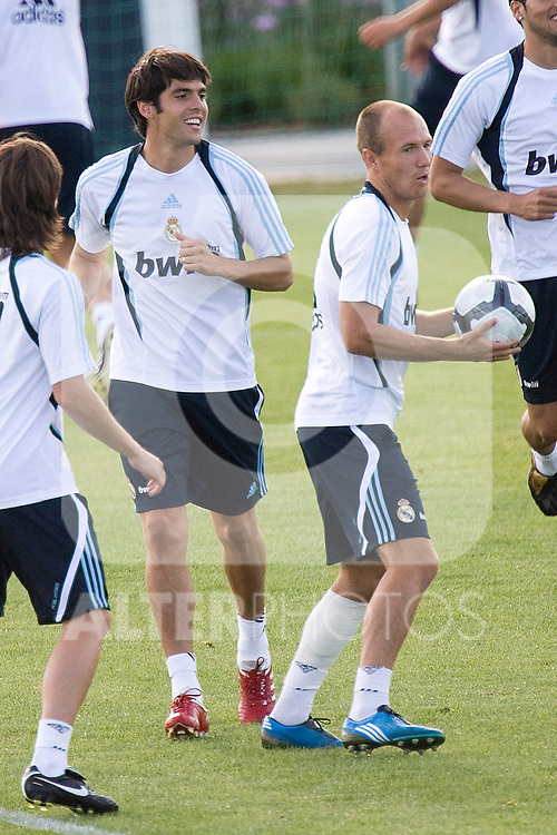 Real Madrid's Kaka during training sesion. August 04 2009. (ALTERPHOTOS/Acero).