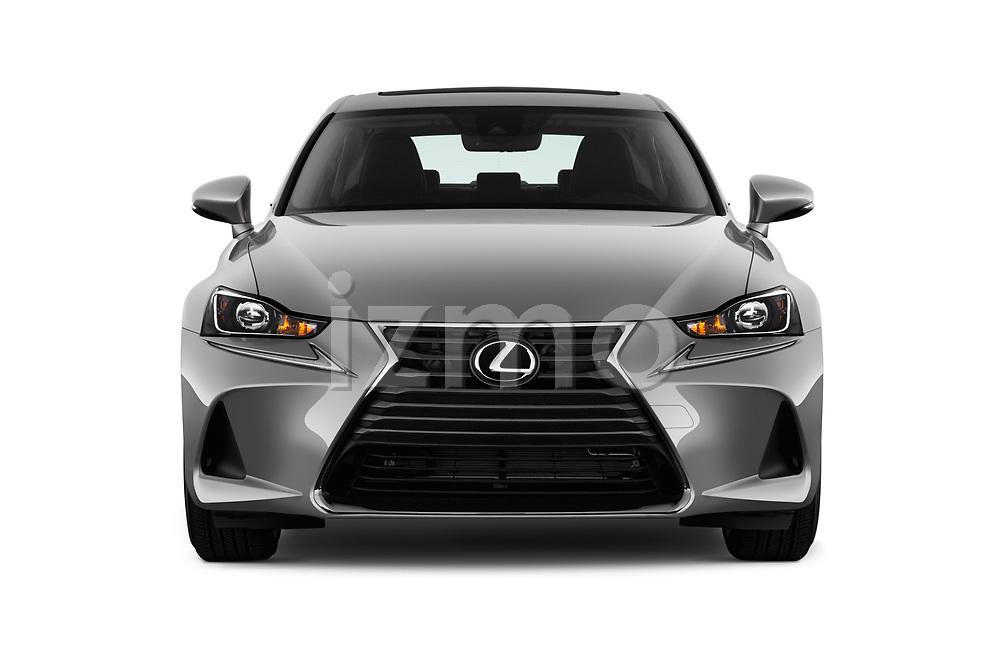 Car photography straight front view of a 2018 Lexus IS 300 4 Door Sedan