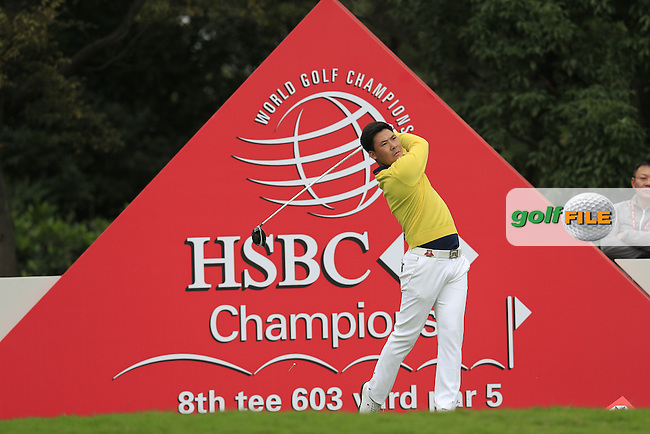 Zhang Xinjun (CHN) on the 8th tee during round 3 of the WGC-HSBC Champions, Sheshan International GC, Shanghai, China PR.  29/10/2016<br /> Picture: Golffile | Fran Caffrey<br /> <br /> <br /> All photo usage must carry mandatory copyright credit (&copy; Golffile | Fran Caffrey)