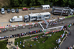 Peloton crossing the finish line for the intermedia sprint, Stage 4 Hotel Verviers - La Gileppe (Jalhay), België, Ster ZLM Toer, Gileppe Belgium, 21th June 2014, Photo by Thomas van Bracht / Peloton Photos
