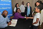 MIAMI, FL - FEBRUARY 06: Tracy Martin and Sybrina Fulton   sign copies of their book 'Rest In Power: The Enduring Life Of Trayvon Martin' after a conversation with Traci Cloyd at Miami Dade College on February 6, 2017 in Miami, Florida. ( Photo by Johnny Louis / jlnphotography.com )