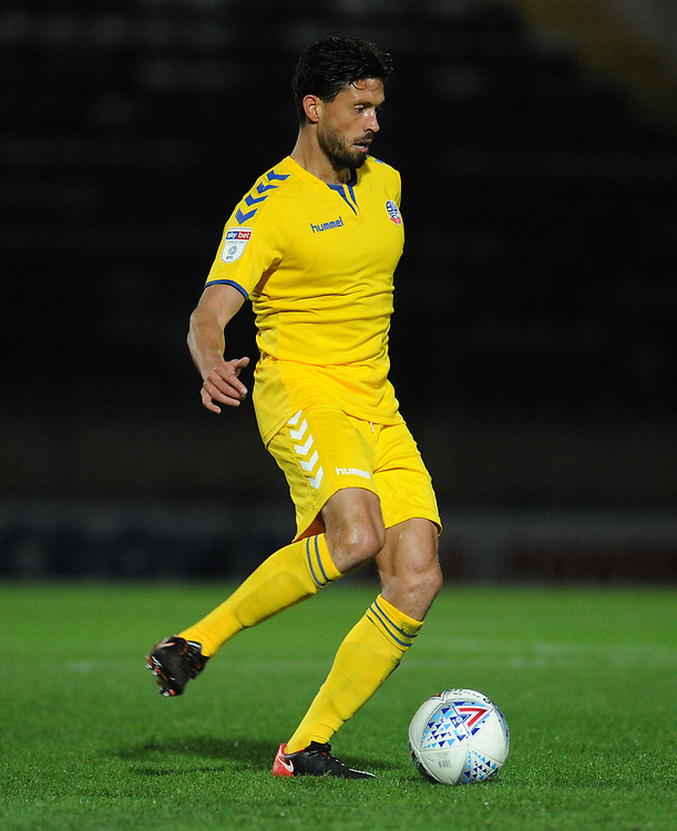 Bolton Wanderers' Jason Lowe<br /> <br /> Photographer Kevin Barnes/CameraSport<br /> <br /> EFL Leasing.com Trophy - Northern Section - Group F - Rochdale v Bolton Wanderers - Tuesday 1st October 2019  - University of Bolton Stadium - Bolton<br />  <br /> World Copyright © 2018 CameraSport. All rights reserved. 43 Linden Ave. Countesthorpe. Leicester. England. LE8 5PG - Tel: +44 (0) 116 277 4147 - admin@camerasport.com - www.camerasport.com