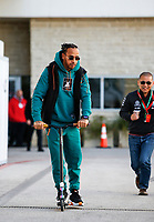 31st October 2019; Circuit of the Americas, Austin, Texas, United States of America; F1 United States Grand Prix, team arrival day;  44 Lewis Hamilton GBR, Mercedes AMG Petronas Motorsport