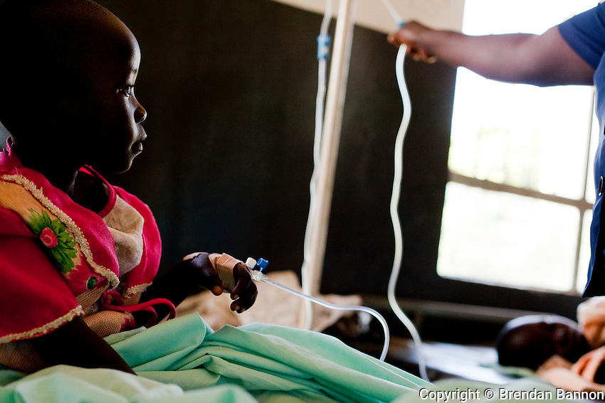 A child treated for malaria.