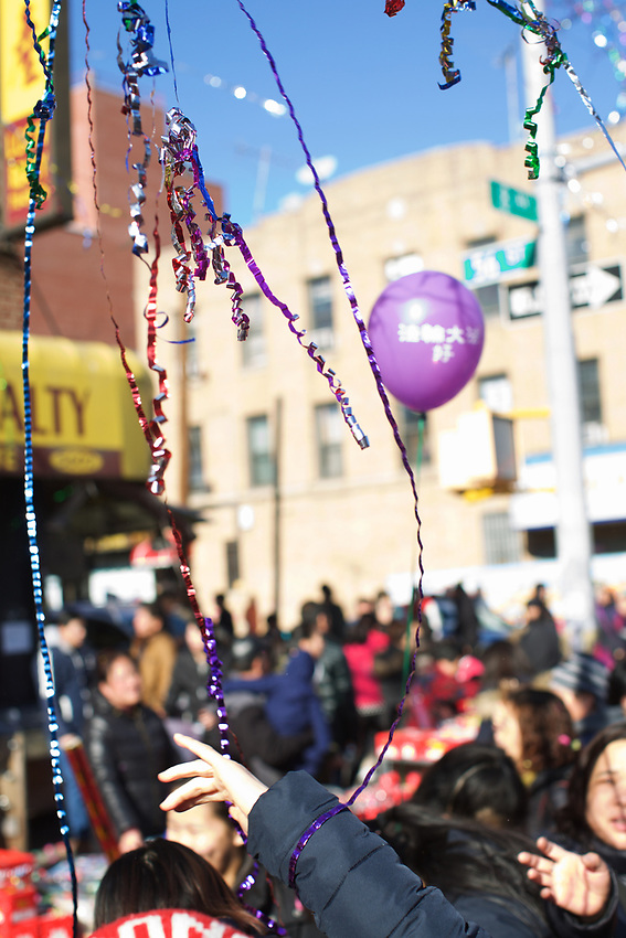 BROOKLYN, NY - January 29, 2017: Chinese New Year Parade celebrating the Year of the Rooster in Sunset Park.<br />  <br /> Credit: Clay Williams.<br /> <br /> &copy; Clay Williams / http://claywilliamsphoto.com