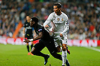 Real Madrid´s Portuguese forward Cristiano Ronaldo  and Paris Saint Germain Serge Aurier