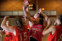 Action from the 2016 Women's Basketball Championship Playoffs match between the Waikato Wizards and Waitakere Lady Rangers at Te Rauparaha Arena, Porirua, Wellington, New Zealand on Friday, 13 May 2016. Photo: Dave Lintott / lintottphoto.co.nz