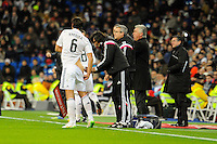 Real Madrid´s Sami Khedira during 2014-15 La Liga match between Real Madrid and Sevilla at Santiago Bernabeu stadium in Alcorcon, Madrid, Spain. February 04, 2015. (ALTERPHOTOS/Luis Fernandez) /NORTEphoto.com