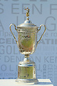 The US Open trophy currently held by Graeme McDowell (NIR) on display during the third round of the Dubai World Championship presented by DP World, played over the Earth Course, Jumeira Golf Estates on 27th November 2010 in Dubai, UAE......