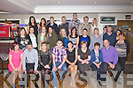 SURPRISE: Stephen Goggin who invited all his family and friends on Saturday night to his 30th Birthday in Mchales-The Stretford Inn, Bar & Restaurant Causeway (Stephen is seated 3rd from left) and to surprise all he announced his engagement to Lisa Mckenna (Lixnaw) who is seated 4th from right).