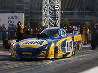 Oct 30, 2016; Las Vegas, NV, USA; NHRA funny car driver Ron Capps during the Toyota Nationals at The Strip at Las Vegas Motor Speedway. Mandatory Credit: Mark J. Rebilas-USA TODAY Sports