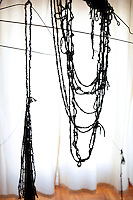 hand-knotted yarn artwork