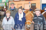 Sean, Timmy and Carol Fleming Cordal take a look at Michael Stokes Killarney pony at the Castleisland Horse fair on Saturday    Copyright Kerry's Eye 2008