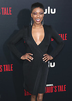 """HOLLYWOOD, CA - APRIL 19:  Samira Wiley  at the premiere Of Hulu's """"The Handmaid's Tale"""" Season 2 at TCL Chinese Theatre on April 19, 2018 in Hollywood, California. (Photo by Scott KirklandPictureGroup)"""