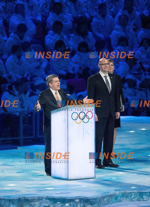 Presidente CIO IOC president Thomas Bach <br /> 07.02.2014, Olympiastadion Fischt, Adlerer<br /> Cerimonia Inaugurale Apertura <br /> Sochi 2014 Olimpiadi Invernali. Olympic Winter Games <br /> Foto EXPA/ Insidefoto