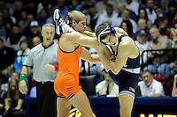 STATE COLLEGE, PA -DECEMBER 19: Joey Dance of the Virginia Tech Hokies attempts to take down Jordan Conaway of the Penn State Nittany Lions during their 125 pound bout on December 19, 2014 at Recreation Hall on the campus of Penn State University in State College, Pennsylvania. Penn State won 20-15. (Photo by Hunter Martin/Getty Images) *** Local Caption *** Joey Dance;Jordan Conaway