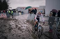 european cx champion Annemarie Worst (NED/Steylaerts-777)<br /> <br /> Superprestige cyclocross Hoogstraten 2019 (BEL)<br /> Women's Race<br /> <br /> &copy;kramon