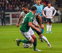 Ilkay Gündogan (Deutschland, Germany) gegen Michael Smith (Nordirland, Northern Ireland) - 19.11.2019: Deutschland vs. Nordirland, Commerzbank Arena Frankfurt, EM-Qualifikation DISCLAIMER: DFB regulations prohibit any use of photographs as image sequences and/or quasi-video.
