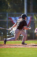 St. Bonaventure Bonnies catcher Tommy LaCongo (11) at bat during a game against the Dartmouth Big Green on February 25, 2017 at North Charlotte Regional Park in Port Charlotte, Florida.  St. Bonaventure defeated Dartmouth 8-7.  (Mike Janes/Four Seam Images)