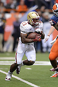 Boston College Eagles running back Myles Willis (23) looks for room to run during a game against the Syracuse Orange at the Carrier Dome on November 30, 2013 in Syracuse, New York.  Syracuse defeated Boston College 34-31.  (Copyright Mike Janes Photography)
