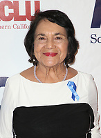 BEVERLY HILLS, CA - DECEMBER 3: Dolores Huerta, at ACLU SoCal's Annual Bill Of Rights Dinner at the Beverly Wilshire Four Seasons Hotel in Beverly Hills, California on December 3, 2017. Credit: Faye Sadou/MediaPunch /NortePhoto.com NORTEPHOTOMEXICO