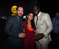 "SANTA MONICA - JANUARY 10: Mark-Paul Gosselaar, Emmanuelle Chriqui, and McKinley Belcher III attend the red carpet premiere party for FOX's ""The Passage"" at The Broad Stage on January 10, 2019, in Santa Monica, California. (Photo by Frank Micelotta/Fox/PictureGroup)"