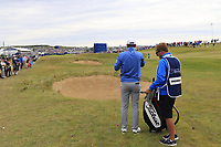 Bernd Wiesberger (AUT) prepares to play his 2nd shot on the 18th hole during Sunday's Final Round of the Dubai Duty Free Irish Open 2019, held at Lahinch Golf Club, Lahinch, Ireland. 7th July 2019.<br /> Picture: Eoin Clarke | Golffile<br /> <br /> <br /> All photos usage must carry mandatory copyright credit (© Golffile | Eoin Clarke)