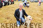 Tony Hanlon from Tralee with his dog Roxie at the Blennerville Pony & Agricultural Show on Sunday.