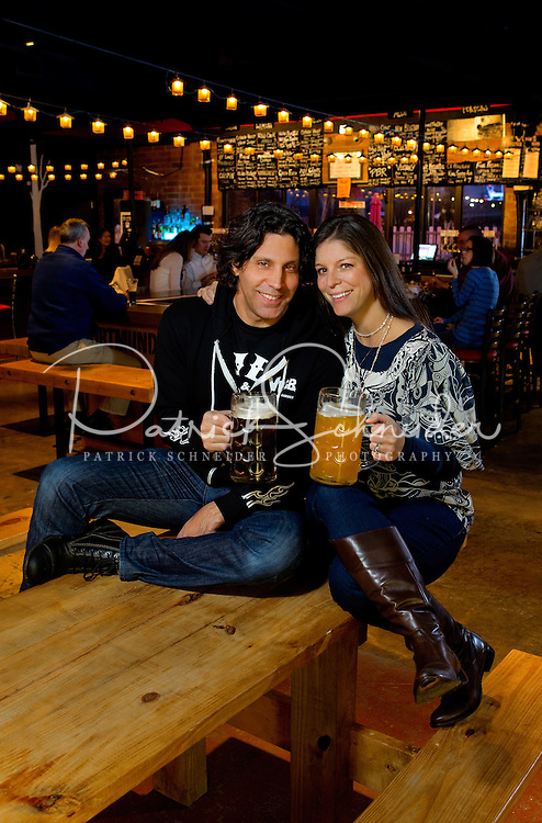 Tom and Kara Taddeo are the owners od VBGB (Very Big German Beer) Beer Hall & Garden inside the NC Music Factory, in Charlotte, North Carolina. VGBG features 30 craft beers and imports on draft, with a state-of-the-art tap system that guarantees beer delivered to your pint glass at 32 degrees...Photo by: PatrickSchneiderPhoto.com
