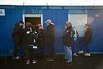 Supporters queueing at the refreshment hut during half-time at Links Park. It was Edinburgh City's first Scottish League visit to Montrose since the club were promoted from the Lowland League the previous season. City won the match 1-0 to record their first league win of the season, captain Dougie Gair scoring the winner from the penalty spot in the 68th minute in a match watched by 388 spectators.