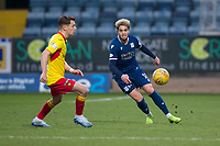 8th February 2020; Dens Park, Dundee, Scotland; Scottish Championship Football, Dundee versus Partick Thistle; Declan McDaid of Dundee turns away from Lee O'Connor of Partick Thistle