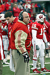 Madison, Wisconsin - 11/15/03. University of Wisconsin head coach Barry Alvarez during the Michigan State game at Camp Randall Stadium. Wisconsin beat Michigan State 56-21. (Photo by David Stluka)