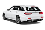 Car pictures of rear three quarter view of a 2019 Mercedes Benz E-Class  E450 5 Door Wagon angular rear