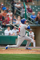 Buffalo Bisons Andy Burns (9) at bat during an International League game against the Rochester Red Wings on May 31, 2019 at Frontier Field in Rochester, New York.  Rochester defeated Buffalo 5-4 in ten innings.  (Mike Janes/Four Seam Images)
